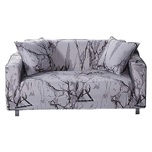 BHAHFL Fundas de sofá elásticas 1 Pieza Funda de sofá Estampada Antideslizante Funda de sofá de para 3 sillones Protector de Muebles Funda de sofá de Estilo Europeo,C,4Seater