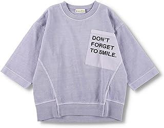 [ブランシェス] ロゴポケット 8分袖 Tシャツ 男の子 キッズ 子供 男児 ボーイズ ユニセックス 7分袖 シンプル 無地 綿 コットン