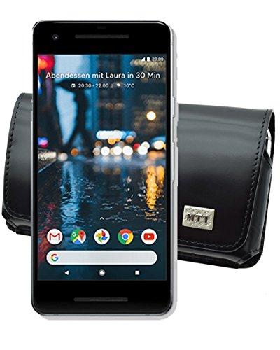 Original MTT Quertasche für Google Pixel 2 | Horizontal Tasche Ledertasche Handytasche Etui mit Clip & Sicherheitsschlaufe*