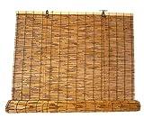 JIAJUTUI001 Cortina de Caña Cortina de Bambú para Puerta Persianas Enrollables Persianas de Bambu Exterior Retro para la Decoración de Particiones DoméSticas(88×157cm/34×61in)