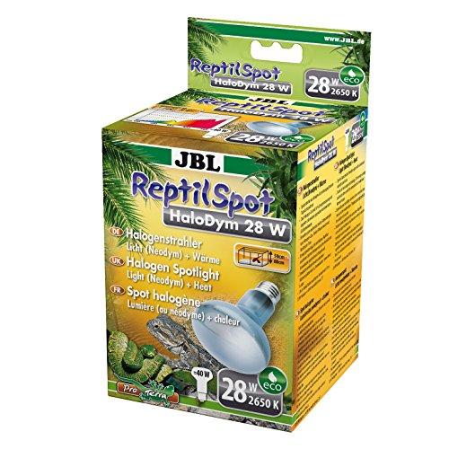 JBL ReptilSpot HaloDym 61866 Halogenstrahler mit Tageslichtspektrum Licht und Wärme, 28 W