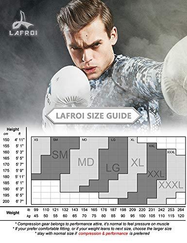 LAFROI Men's Long Sleeve UPF 50+ Baselayer Skins Performance Fit Compression Rash Guard