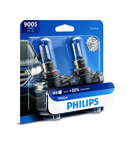 Philips Automotive Lighting 9005 Vision Upgrade Headlight Bulb with up to 30% More Vision, 2 Pack...
