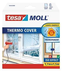 Tesa Película aislante para ventanas Thermo Cover (1,7m x 1,5m)