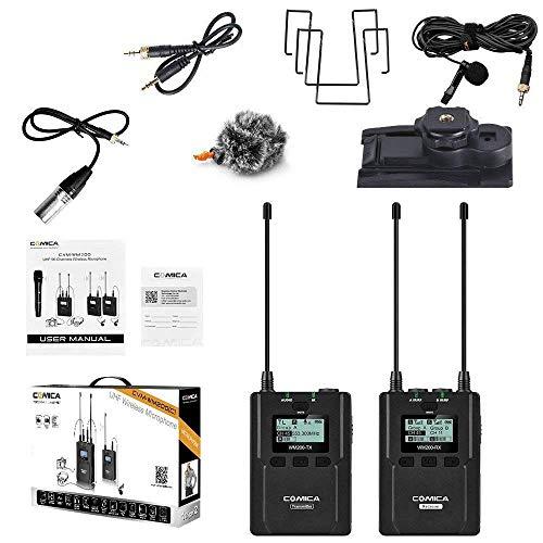 CO-MIC-A CVM-WM200(A) 96 canaux UHF Microphone sans fil pour caméscope vidéo DSLR CVM-WM200C