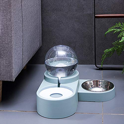 maohegou 1.8L Cat water fountain, automatic dog water dispenser, dog feeder, pet feeder dispenser, cat water feeder, pet drinking fountain (Ocean Blue)