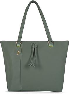 Baggit Spring-Summer 2021 Faux Leather Women's Tote Handbag (Green) (Diehard)