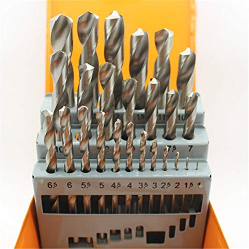 GUONING-L Tools 1.0-13.0mm HSS Wood Metal Drilling Tool HSS Twist Drill Bit Hole Boring Drill Bits Sets Drill (Hole Diameter : 25pcs)