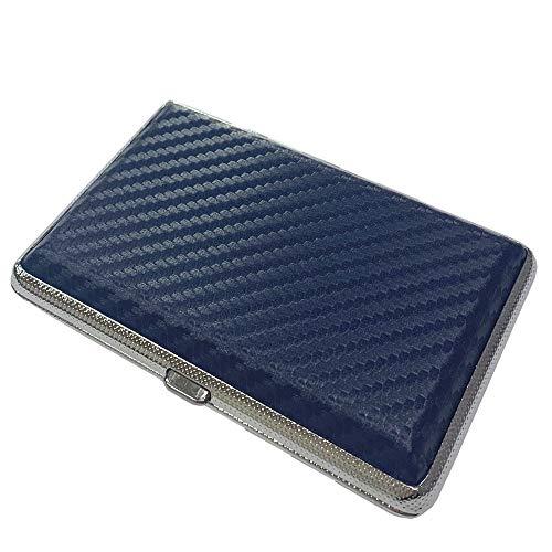 プルームテック ケース (カーボンネイビー) ハードケース PU レザー Ploom TECH PloomTECH ケース カバー スリム コンパクト シンプル 無地 合皮 電子タバコ 保護 収納 ポーチ ホルダー キャリングケース