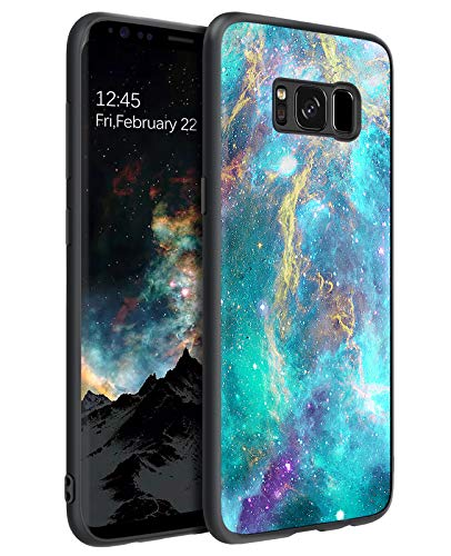 "BENTOBEN Samsung Galaxy S8 Case, Galaxy S8 Case, Slim Fit Glow in The Dark Soft Flexible Bumper Protective Anti Scratch Non-Slip Phone Cases Cover for Samsung Galaxy S8 5.8"" (2017), Nebula/Galaxy"