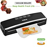 Fnboc Vacuum Sealer Food Saver - One Button Automatic Food Sealer Machine for Food Preservation with 20 Bags & Roll Starter Kit, Dry & Moist Modes