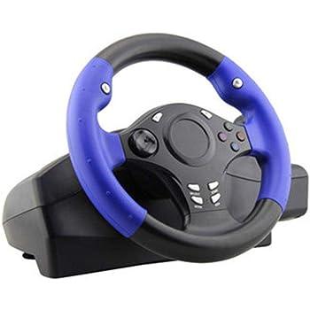 Blue-Yan Volante y Pedales de Juego universales con PS4 / PS3 / PC ...