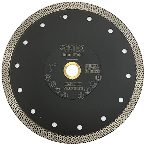 VORTICE VPM 7 inch Super Thin Diamond Saw Blade for Cutting Porcelain Tiles Granite Marble Ceramics (7