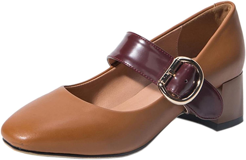 CarziCuzin Women Classic Block Heel Pumps