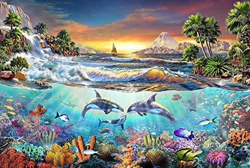 Mural Puzzle Juguete De Entretenimiento Familiar Desafiante del Mundo Submarino De 5000 Piezas para Adultos