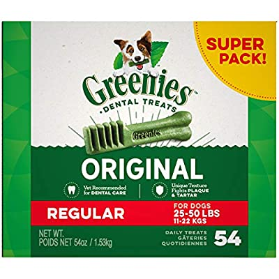 Greenies Original Regular Size Natural Dental Dog Treats, 54 oz. Pack