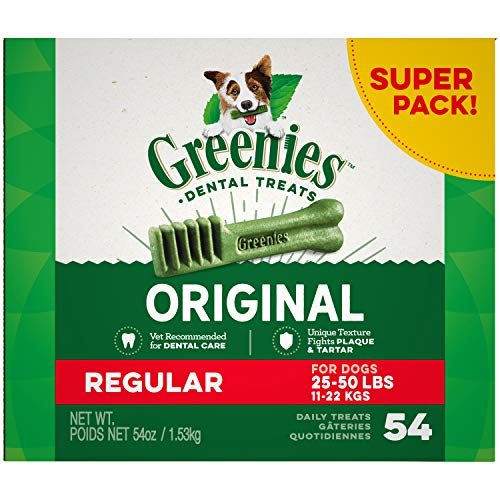 Greenies Original Regular Size Natural Dental Dog Treats, 54 oz. Pack