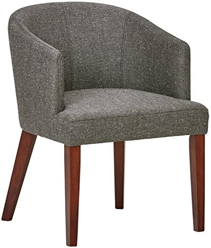 Best Amazon Brand – Rivet Alfred Mid-Century Modern Wide Curved Back Accent Kitchen Dining Room Chair,