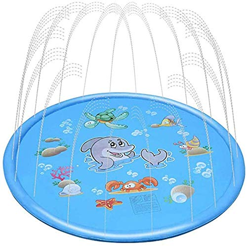 LPing Splash Pad,100cm / 150cm / 170cm Splash Paddling Pool Play Mat para niños pequeños,Outdoor Water Play Sprinklers Summer Fun Backyard Play para niños Actividades Familiares para niños