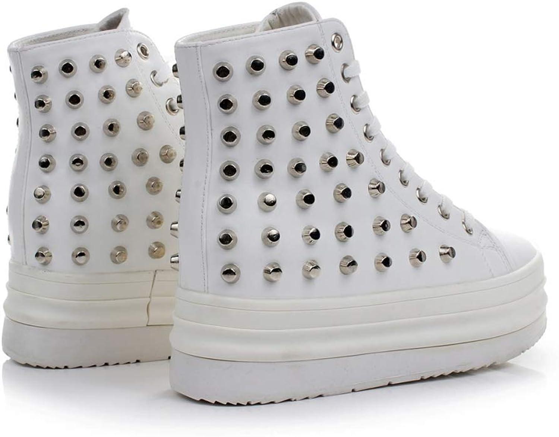 Cloudless Unisex Street Style Skid High-top Vulcanized Rivet Sneakers