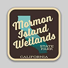 JMM Industries Mormon Island Wetlands State Park California Vinyl Decal Sticker Car Window Bumper 2-Pack 4-Inches by 4-Inches Premium Quality UV Protective Laminate SPS646