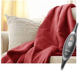 Sunbeam Velvet Soft Plush Heated Throw Blanket Various Colors Size: 50