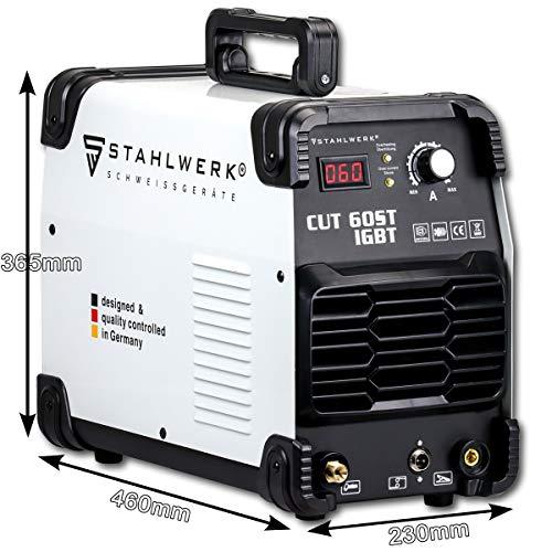 STAHLWERK CUT 60 ST IGBT Plasmaschneider mit 60 Ampere bis 24mm Schneidleistung für Lackierte Bleche und Flugrost geeignet 7 Jahre Herstellergarantie - 9