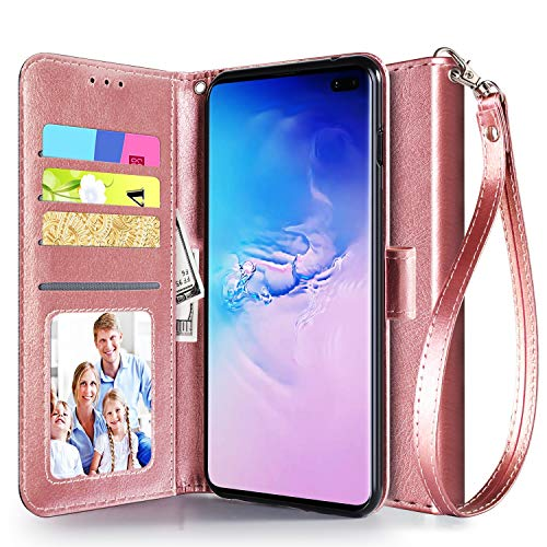 leather flip wallet case for galaxy s10 plus