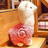 BAONZEN Liebe Tier Tier Einhorn Puppe Puppe Puppe Alpaka Plüschtier Schlafkissen lustig, Rose rot,...