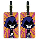 Teen Titans Go! Raven Luggage ID Tags Suitcase Carry-On Cards - Set of 2