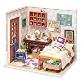 Rolife DIY Miniature Dollhouse Kit Bedroom Scale Model Diorama Gifts for Teens/Adults (Anne's Bedroom)
