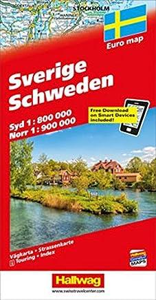 Svezia-Sverige-Schweden 1:800.000 1:900.000
