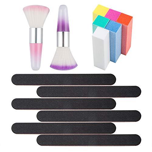 YuCool weicher Staubentferner für Nagelkunst, tragbar, langer Griff, Reinigungsbürste für...