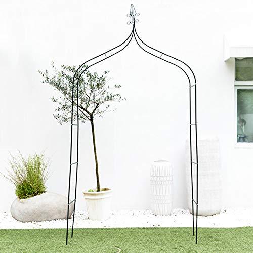 YICOL Steel Garden Arch, Metal Garden Arches Trellis for Climbing Plants,Dark Green