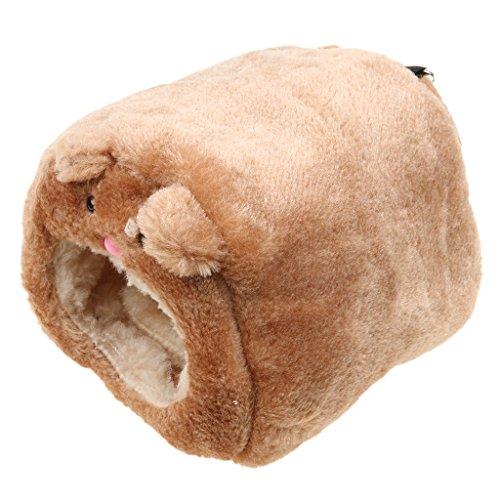 Juguete Hamaca de Lujo Calentar Cama Casa Patrón de Oso para Rata Hámster Conejo Hurón