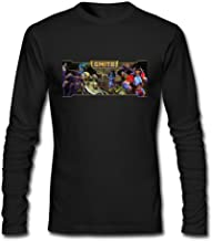 JUXING Men's Smite Video Game Logo Long Sleeve T-shirt XXXL ColorName