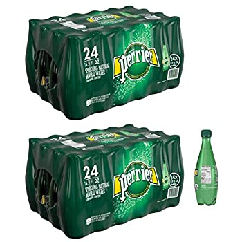 Perrier Carbonated Mineral Water 16.9 fl oz Plastic Bottles - 24 Count Set of 2