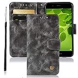 Jhxtech Huawei Honor 7X Case, Premium PU Leather Flip