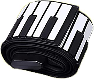 Piano Keyboard 88 Keys Silicone Portable Flexible Foldable Digital Electronic Music Instrument Roll Up Soft Keyboard Piano...