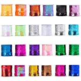 Berolle 24 Rolls 24 Colors Spangle Flat Sequins Paillette Trim Spool String Sequins Ribbon Roll for Crafts, Embellishments, Costume Accessories