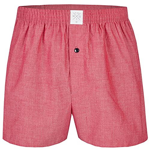 MG-1 Webboxer Herren American Boxer Boxershorts Baumwolle Cotton Basic rot red, Grösse:XL, Präzise Farbe:red