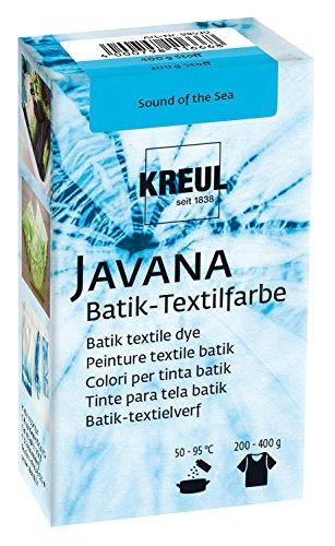 Kreul 98530 - Javana Batik Textilfarbe, zum Färben von Textilien mit der Shibori Technik, 70 g Farbpulver in Sound of The Sea