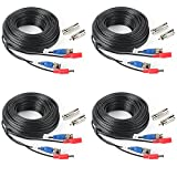 SHD 4Pack 33Feet BNC Vedio Power Cable Pre-Made...