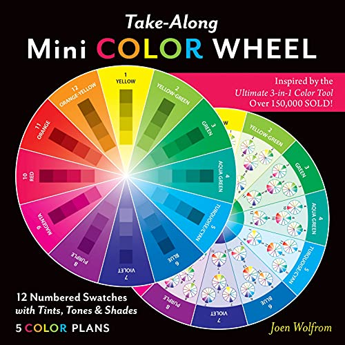 Take-Along Mini Color Wheel: 12 Numbered Swatches with Tints & Shades, 5 Color Plans (Reference Tool)