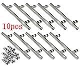 Logtronik - Tirador de puerta de acero inoxidable con barra en T para cajón y puerta de armario (15...