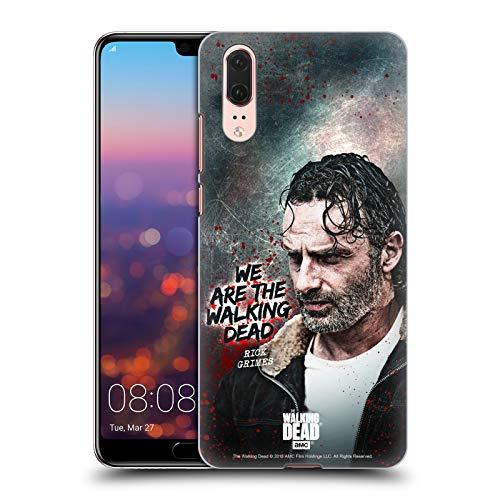 Head Case Designs Licenciado Oficialmente AMC The Walking Dead Cita Legado de Rick Grimes Carcasa rígida Compatible con Huawei P20