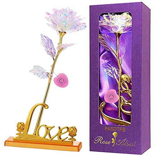 Rosa 24K Chapadas en Oro Rosa Eterna Rosas Flores Artificiales Rosa de...