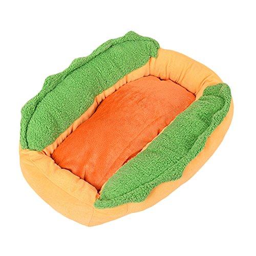 ocamoコットンホット犬形状ペットベッド犬小屋猫犬ネスト子犬暖かいマットクッション洗濯可能パッド