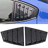 HIGH FLYING for Subaru WRX STi 2015-2020 Back Side Window Scoop Louvers Cover ABS 2PCS (Carbon Fiber Grain)