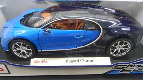 【コモンセ】Maisto マイスト1/18 希少 Bugatti Chiron ブルー ブガッティ シロン■コモンセ